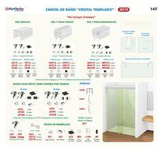 Cancel de Baño para Cristal Templado Perfiletto ®| Catálogo Virtual Perfiletto