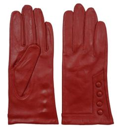 Giromy Samoni Women is Plush Lined Leather Gloves With Decorative Buttons - Red - Xlarge Red Gloves, Leather Gloves, Mitten Gloves, Mittens, Cold Weather Gloves, Cycling Gloves, Sheep Leather, Everyday Activities, Leather Cleaning