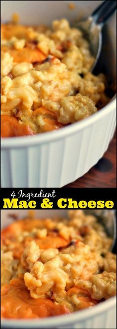 Grandma Mayes' knew exactly what she was doing!  This 4 Ingredient Mac and Cheese is a SHOW STOPPER!  So thick and cheesy, it is almost custard-like!  My family can not get enough of this recipe!  So amazingly good and simple.