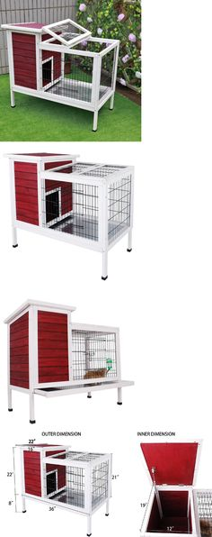 Cages and Enclosure 63108: Rabbit Hutch Indoor Bunny Cage Habitat Small Animal Guinea Pig Hideaway New BUY IT NOW ONLY: $118.99