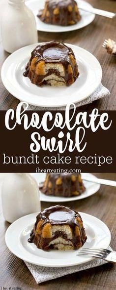 Chocolate Swirl Bundt Cake Recipe – best tips for making a marble cake! Love thi… Chocolate Swirl Bundt Cake Recipe – best tips for making a marble cake! Love this dessert! Marble Bundt Cake Recipe, Marble Cake, Köstliche Desserts, Delicious Desserts, Dessert Recipes, Plated Desserts, Strudel, Food Cakes, Cupcake Cakes