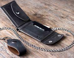Chain Wallet Wallet Men's Leather Biker Wallet by JooJoobs