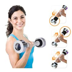 Dumbbell Shake Tone Weight Calories Fitness Body Exercise Arm Chest  www.JDKhealthandfitness.com