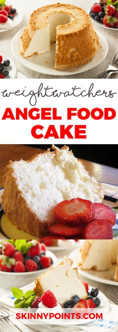 Angel Food Cake - Weight Watchers SmartPoints 6