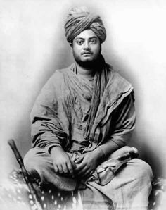 Swami Vivekananda (Link is to Parliament of World's Religions entry on Wikipedia. His presence there in 1893 changed the world, a hallmark moment in the development of multiculturalism). Rare Pictures, Historical Pictures, Rare Photos, Swami Vivekananda Wallpapers, Swami Vivekananda Quotes, Shiva, Krishna, Freedom Fighters Of India, Spiritual Figures