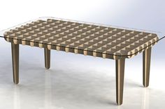 Flat Pack Coffee Table - AutoCAD, SOLIDWORKS, Other - 3D CAD model - GrabCAD