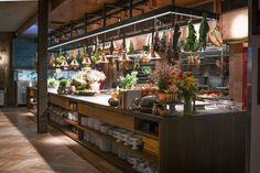 Saison Chef Opens Buzzy New Restaurant, Angler, in San Francisco Restaurant Design, Open Kitchen Restaurant, Restaurant Bar, Industrial Restaurant, Layout Design, Küchen Design, Interior Design, Cafe Interior, Best Restaurants San Francisco