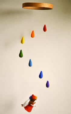 Baby Room Decoration  needle felted mobile: by MagicWool on Etsy