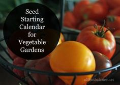 Seed Starting Calendar for Vegetable Gardens