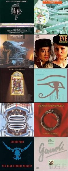 Another great band.Collage Album of Alan Parsons Project Music Like, My Music, Alan Parsons Project, November Rain, Ready Player One, Progressive Rock, Great Bands, Record Producer, Rock Music