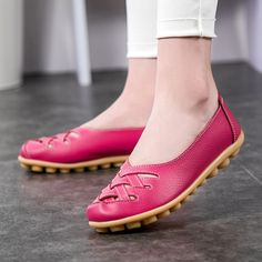 12.90$  Watch now - http://ali2ns.shopchina.info/go.php?t=32781989517 - Handmade genuine leather ballet flat shoes women female casual shoes women flats shoes slip on leather car-styling flat shoes 12.90$ #buyonline