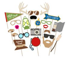 Hey, I found this really awesome Etsy listing at https://www.etsy.com/listing/225110598/camping-party-photo-booth-props-outdoors