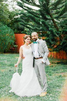 Simple gown. Melissa Sweet. Photography: Merari Photography - www.merari.com  Read More: http://www.stylemepretty.com/2014/02/25/picnic-style-wedding-at-casa-reta/