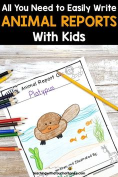 Ready to create animal research projects with your grade one, grade two, and grade three students? Support your students through each stage of the report writing process as they write their animal reports. Informative writing can be a challenge for kids. Make it is easy with these differentiated templates. BUY NOW! Teach W.1.2, W.1.5, W.2.2, W.2.5, W.3.2, and W.3.5 with animal reports.