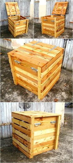 Wood pallets are great because they can be restyled into almost anything when it comes to creating a furniture piece, the pallets are available at low cost; so they save the money and give a unique thing to the creator which is not available in the market. Not only the furniture like sofa set or table can be created using the pallets, they can be utilized to create the things like a composter as well, which enhances the look of the home. Here is an idea of recycled wood pallets composter…