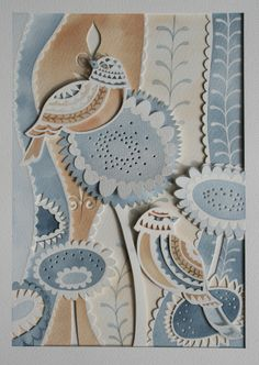 "Made To Order-Paper cut, Watercolour & Layered ""Sweet Birds"" Artwork £75.00"
