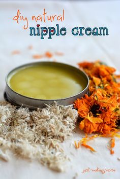 DIY motherlode nipple salve  1/4 cup Calendula 1/4 cup Marshmallow Root 1 cup Olive oil and/or Coconut oil 1/8 cup Beeswax 2 Tbsp Shea Butter