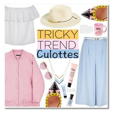 """""""No 395:Chic Culottes"""" by lovepastel ❤ liked on Polyvore featuring Yumi, Olive + Oak, Phase 3, Geranium, Fendi, philosophy, Defy & Inspire, Sheriff&Cherry, Suck and Givenchy"""