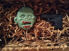 Zombie And Gun Birthday Candle By BabyBearCandles On Etsy Party Burning