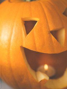 Scary Halloween Pumpkin Lantern By killer
