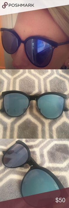 Brand new Quay Australia Sunglasses BRAND NEW Black rimmed blue mirrored Quay Sunglasses Quay Australia Accessories Glasses