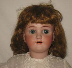 """Antique Heinrich Handwerck / Simon & Halbig 28"""" Bisque Socket Head Doll   MR81"""