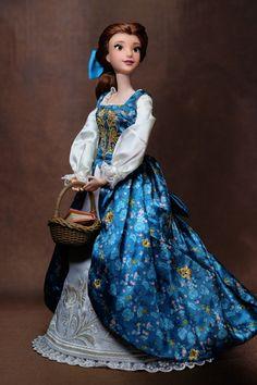 Belle OOAK doll repainted by R+Y factory* Disney Barbie Dolls, Disney Princess Dolls, Disney Animator Doll, Pretty Dolls, Cute Dolls, Beautiful Dolls, All American Doll, Girl Superhero Party, Barbie Wedding Dress