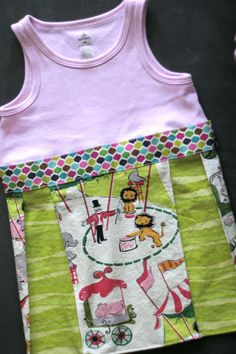 repurposed tank top tutorial - so cute with leggings! I like the idea, but I woud modify mine for a fuller skirt...
