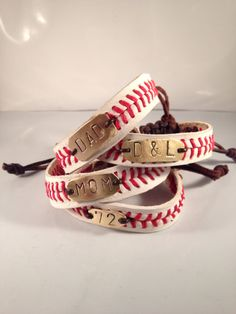 Custom Stamped Baseball Bracelet THE REAL by LeighBeeJewelry, $18.95