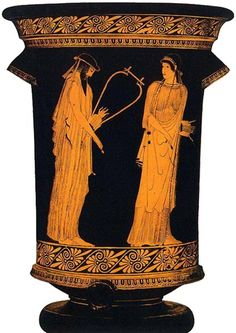 Sappho and Alcaeus Athenian depiction of Sappho and Alcaeus, about 450 B.C.E.