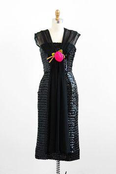vintage 1950s sequin wiggle dress by Lilli Diamond.