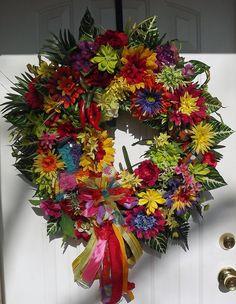 Sale XXL Fiesta wreath Cinco de Mayo wreath by WreathsbyKimberly, $100.00