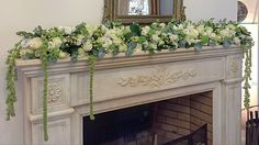 Fire place flowers