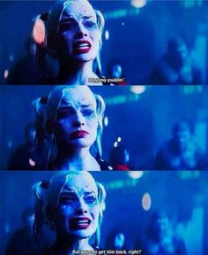 """""""Hey, lady? I lost my puddin' but you can bring him back right?"""" #jokerandharley"""