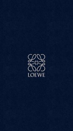 ロエベ/ロゴネイビーレザー iPhone壁紙 Wallpaper Backgrounds iPhone6/6S and Plus LOEWE