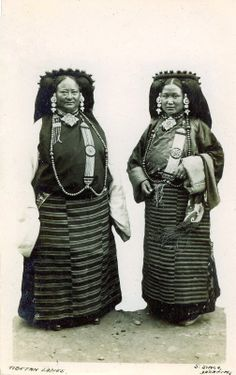 """Two Tibetan ladies from Lhasa 