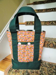 Lined dragonfly tote bag with front back by TheScatteredArtisan, $39.00