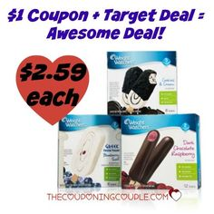 HOT! Weight Watchers Frozen Treats Deal @ Target!   HOT! Weight Watchers Frozen Treats Deal @ Target! [adrotate banner ='51']Did you see there is a new $1.00/1 Weight Watchers Frozen Treats coupon (zip 68130) to print? What makes this coupon even better is there is a HOT deal at Target right now! You can stack the coupon with a...  Click the link below to get all of the details ► http://www.thecouponingcouple.com/hot-weight-watchers-frozen-treats-deal-target