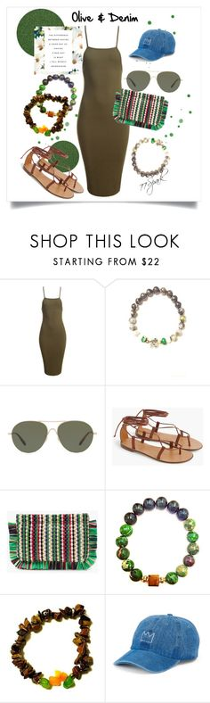 """""""Olive Never Looked So Good"""" by shop77spark ❤ liked on Polyvore featuring Sans Souci, Oliver Peoples, J.Crew and SO"""