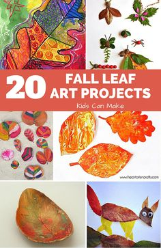 20 Fantastic Fall Leaf Art Projects for Kids. Great art ideas for the kids to get excited about celebrating fall and creating beautiful leaf masterpieces.