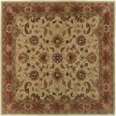 @Overstock - Breath new life into a room with this decorative hand tufted rug. This 100 percent wool rug features a decorative border with a beige background and accents of rust red, sage, brown, black, and gold. The traditional style rug measures 8 x 8 square.http://www.overstock.com/Home-Garden/Hand-tufted-Vault-BeigeBeige-Red-Traditional-Border-Wool-Rug-8-x-8/5885405/product.html?CID=214117 $350.99