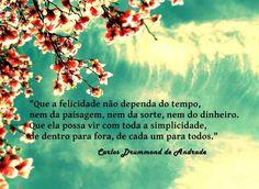 Mensagens de Carlos Drummond de Andrade