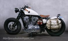 GasCap Motor's Blog: Old Black Bones: A HD Sportster 883 By L.A. Motorcycles