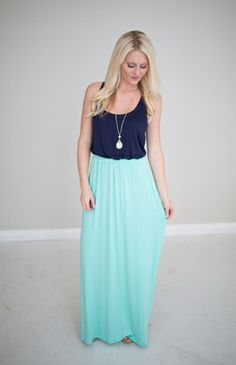 2 tone maxi dress boutique