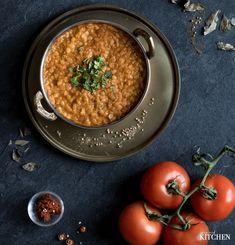 Indická polévka Dhal z červené čočky Dhal, Chana Masala, Vegan, Dinner, Healthy, Ethnic Recipes, Diet, Dining, Food Dinners