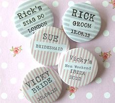 Personalised Striped Badge
