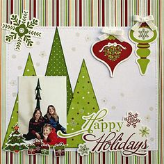 Happy Holidays Scrapbooking Template