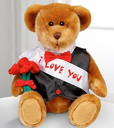 Teddy Bear VI. - Love- Thank you Happy Teddy Bear Day, Teddy Day, Bear Valentines, Build A Bear, Stylish Girl Images, Wishes For You, Gift Baskets, Plush, Love You