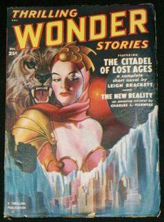 Thrilling Wonder Stories Dec 1950 Earle Bergey Art