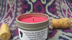 """""""SOMEDAY MY PRINCE WILL COME"""" DISNEY PRINCESS THEMED SOY WAX CANDLE Whether you are """"Whistling While You Work"""" or singing songs to forest critters you'll love the fresh scent of forest and clovers mixed with a hint of deceptively clean smelling apple. Beware: this candle may enchant you!"""